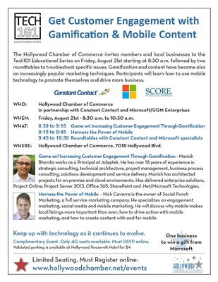SEMINAR - Hollywood Chamber - Harness the Power of Mobile @ Hollywood Chamber | Los Angeles | California | United States