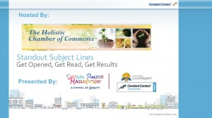 WEBINAR: Stand Out Subject Lines with Constant Contact @ Online