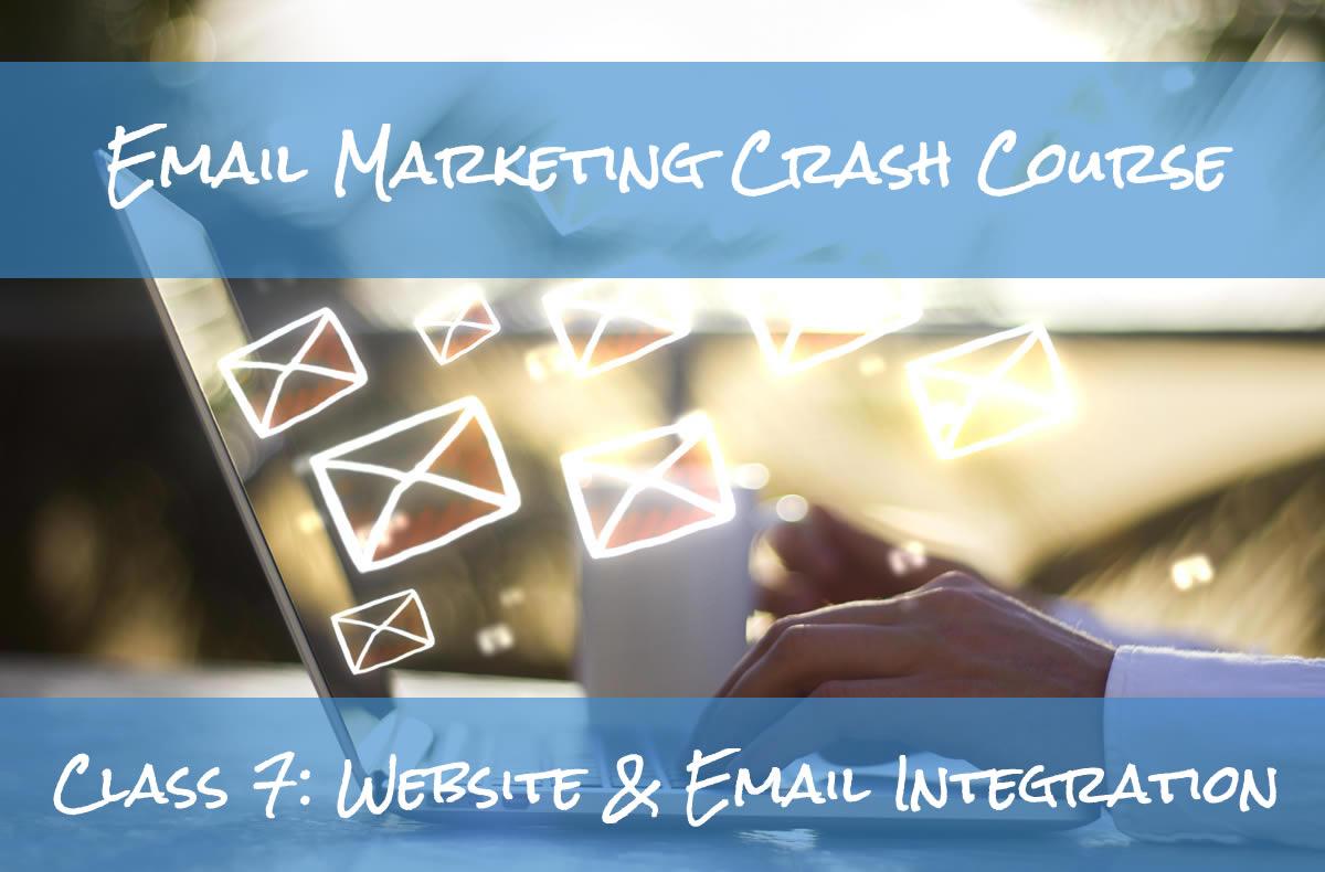 Email Marketing Crash Course Website Integration