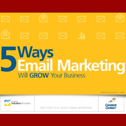 5 Ways Email Marketing Will Grow Your Business – FREE Whitepaper from Constant Contact and SocialPunchMarketing